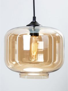 Oiji amber glass pendant light