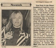 Tom Petty and the Heartbreakers in Bay Area Music Magazine (1978)