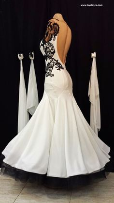 Black & White Lace Standard-you can see the way the skirt is constructed.