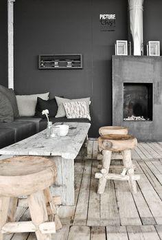= black and wood stools = Paulina Arcklin styling