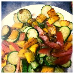 What Tina and I made for dinn tonight - sautéed zucchini, tomato and butternut squash with a dash of balsamic :)