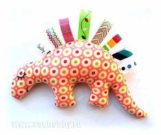 мягкая игрушка для малыша в кроватку сонный динозавр