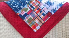 Ready to Ship Going Coastal Patchwork Blanket by DesignsbyChristyS, $35.00
