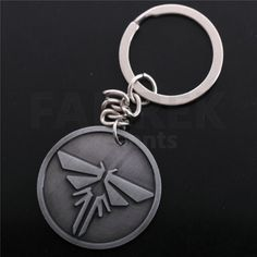 The Last Of Us Logo Metal Silver Charms Keychain Key Chains Chaveiro Llaveros Portachiavi Sleutelhanger Keyring For Best Friends Silver Charms, Jewelry Sets, Personalized Items, Key Chains, Logo, Metal, Shopping, Friends, Key Fobs