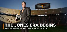 BUTCH JONES NAMED VOLS' NEW HEAD COACH - UTSPORTS.COM - University of Tennessee Athletics