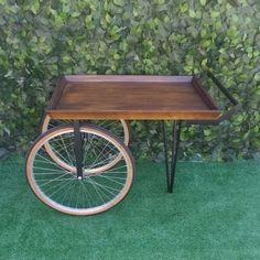 Vendor Cart, Wood Cart, Food Cart Design, Fruit And Vegetable Storage, Bicycle Decor, Park Tool, Old Wagons, Candy Cart, Tea Cart