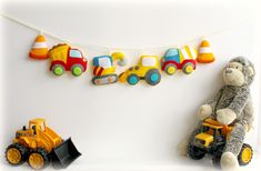 Make Your Own Construction Vehicles Decoration Set . Craft | Etsy
