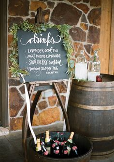 rustic drink station | Christianne Taylor