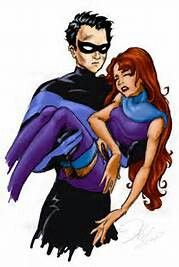 Another drawing of Robin and Starfire, this time it is in more of my own style. ALso, the original pencil sketch was done in my sketchbook and scanned i. Robin and Starfire take 2 Nightwing And Starfire, Team Cap, Old Shows, Lift And Carry, Young Justice, Bat Family, Romantic Couples, Dc Universe, Justice League