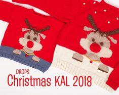 """Christmas 2018"" DROPS-Along - Material ~ DROPS Design Christmas Jumpers, Christmas Sweaters, Christmas Stockings, Drops Patterns, Ribe, Drops Design, Xmas Decorations, Pulls, Nepal"
