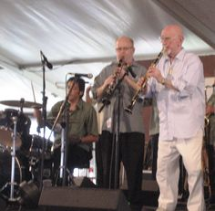 Pete Fountain and Tim Laughlin - JazzFest 2011