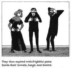 The Black Doll Edward Gorey gys for brn t Edward Edward Gorey, John Kenn, The Mimic, Black Moon, Up Book, Ink Pen Drawings, Christmas Carol, Bibliophile, Macabre