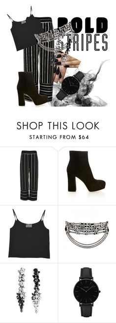 """""""Bold Stripes"""" by leandry ❤ liked on Polyvore featuring River Island, Gianvito Rossi, Antipodium, Iosselliani and CLUSE"""