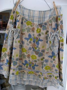 summer skirt by dottie angel Dottie Angel, Diy Clothes, Clothes For Women, Angel Dress, She Is Clothed, Sewing Aprons, Granny Chic, Summer Skirts, Couture