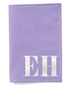 Look at this Purple & Silver Personalized Leather Passport Cover on #zulily today!