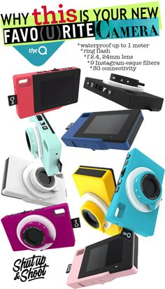 MUST HAVE: TheQ Waterproof 3G Digital Camera (With In Camera Filters!) via http://demicouture.ca/ #theQ #theQcamera