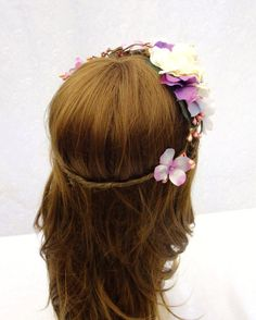 Bridal Head Piece White and Pinks Bridal Crown by RuthNoreDesigns, $30.00