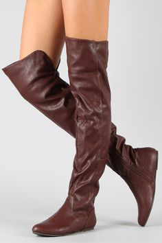 f02a4e3c5dd7a Vickie-16H Buckle Slouchy Thigh High Boot. I NEED these! | Clothes ...