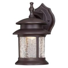 Gama Sonic Barn Solar Brown Outdoor Integrated LED Wall Light with Motion Sensor-GS-122-PIR - The Home Depot