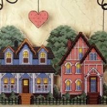 ru / 72633 Loving Home Welcome - 72633 Loving Home Welcome - natalytretyak Welcome, Cross Stitch, House Styles, Gallery, Home Decor, Dots, Houses, Embroidery, Crossstitch