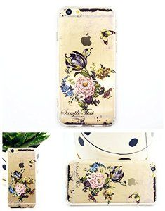 For iPhone 6 case with Flower print, iPhone 6 TPU soft case for girls, iPhone 6 4.7'' back soft cover