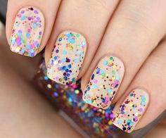 Glitter nail polish  Fireworks by Letitglitter on Etsy