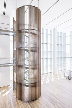 Completed in 2014 in Salt Lake City, United States. Images by Scott Frances. The design of the new United States Courthouse in Salt Lake City emanates from our search for a form that is strong, iconic, transparent, and. Modern Staircase, Staircase Design, Staircase Spindles, Spiral Staircases, Railings, Architecture Details, Interior Architecture, Interior Design, Salt Lake City