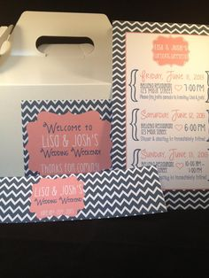 Wedding Welcome Gable Box by modernsoiree on Etsy, $5.75