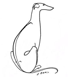 greyhound line drawing - Google Search