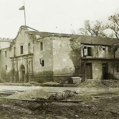 The Alamo - 100 years ago - San Antonio, Texas Texas History, Us History, Mexican American War, American History, Early American, Old Pictures, Old Photos, San Antonio, Only In Texas