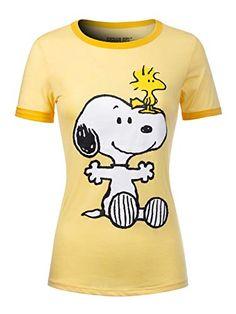 online shopping for Instar Mode Women's Peanuts Snoopy & Woodstock Short Sleeve Crew Neck Top from top store. See new offer for Instar Mode Women's Peanuts Snoopy & Woodstock Short Sleeve Crew Neck Top Cartoon T Shirts, Cartoon Dog, Long Sleeve Tee Shirts, Long Sleeve Tops, Chinese Shirt, Strapless Shirt, Snoopy T Shirt, Snoopy And Woodstock, Peanuts Snoopy