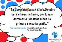Llamanos y haz tu cita en #CompleteSpeechGT #Clinic