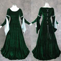 Gorgeous Green Medieval Renaissance Gown