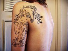 Lovely Mucha Tattoo.