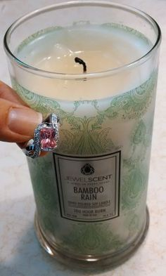 Sweet ring found in a Bamboo Rain Candle by JewelScent! #jewelscent #jewelry #candle #free #ring #gift