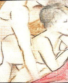 """""""Nus 12"""" - Lápis-de-cor. Projeto """"Delta Z"""". Setembro de 2004. Arte Erótica."""