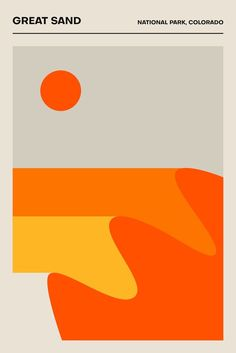 Great Sand National Park Colorado Poster Minimalist Print Travel Poster Printed Poster Geometric Home Decor National Parks Graphic Design Posters, Graphic Design Inspiration, Typography Design, Minimalist Graphic Design, Graphic Art, Poster Designs, Poster Ideas, Graphic Prints, Line Art Design
