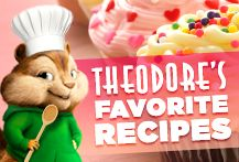 Theodore sure loves to cook! What is your favorite recipe? | Alvin and the Chipmunks: The Road Chip