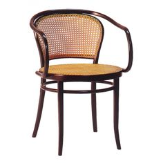 Ton Armchair No. 33, Cane Seat