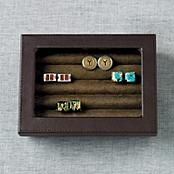 cuff link case for storing post earrings!