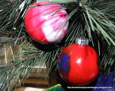 All Things Beautiful: Swirly Christmas Balls Craft {for all ages}
