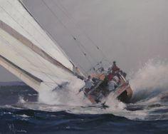 Peter Wileman - Full bore - oil on board