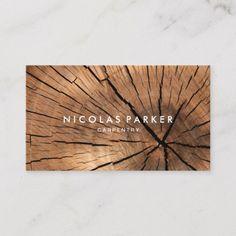 Shop Create Your Own Wooden Log Business Card created by JC_Business_Cards. Business Postcards, Wood Business Cards, Business Card Size, Gifts For Carpenters, Wood Logo, Logo Design, Graphic Design, Brochure Design, Design Design