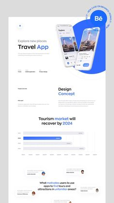 Even though 2020 made us forget about traveling for some time, our design team has decided to dream a bit and created a new design concept for a travel app. It allows travelers to find new adventures and book interesting and exciting excursions and tours. | #app #booking #interaction #landing #page #mobile #app #travel #guide #ui/ux #web #website #webdesign App Design, Form Design Web, Mobile Design, One Pager Design, Wireframe Design, Web Design Company, Website Design Layout, Material Design Website, About Us Page Design