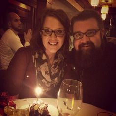 Rob with wife Kelsey - birthday celebration for Kelsey Feb 5/15