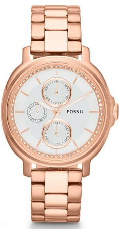 Fossil Watches, Women's Chelsey Multifunction Stainless Steel Watch - Rose #ES3353