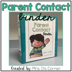 READY FOR THE 2016-2017 SCHOOL YEAR * All teachers know how important it is to be in contact with parents on the regular. With this free contact log binder setup, you'll no longer need to worry about who called when, for what, and what you need to do now.