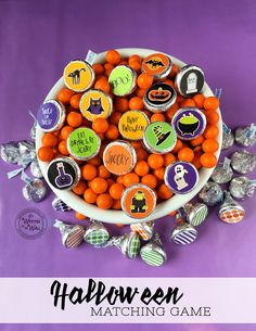 halloween kisses matching game hershey chocolate tags halloween party game school party game hershey kisses