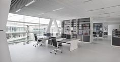 Design your office with white color. @adidas headquarters #officespacedesign