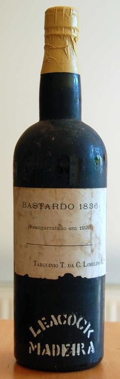 Lomelino Bastardo 1836 From the famed Leacock cellars, Bastardo was one of the two great Madeira varietal (together with Terrantez) not commercially replanted after phylloxera.